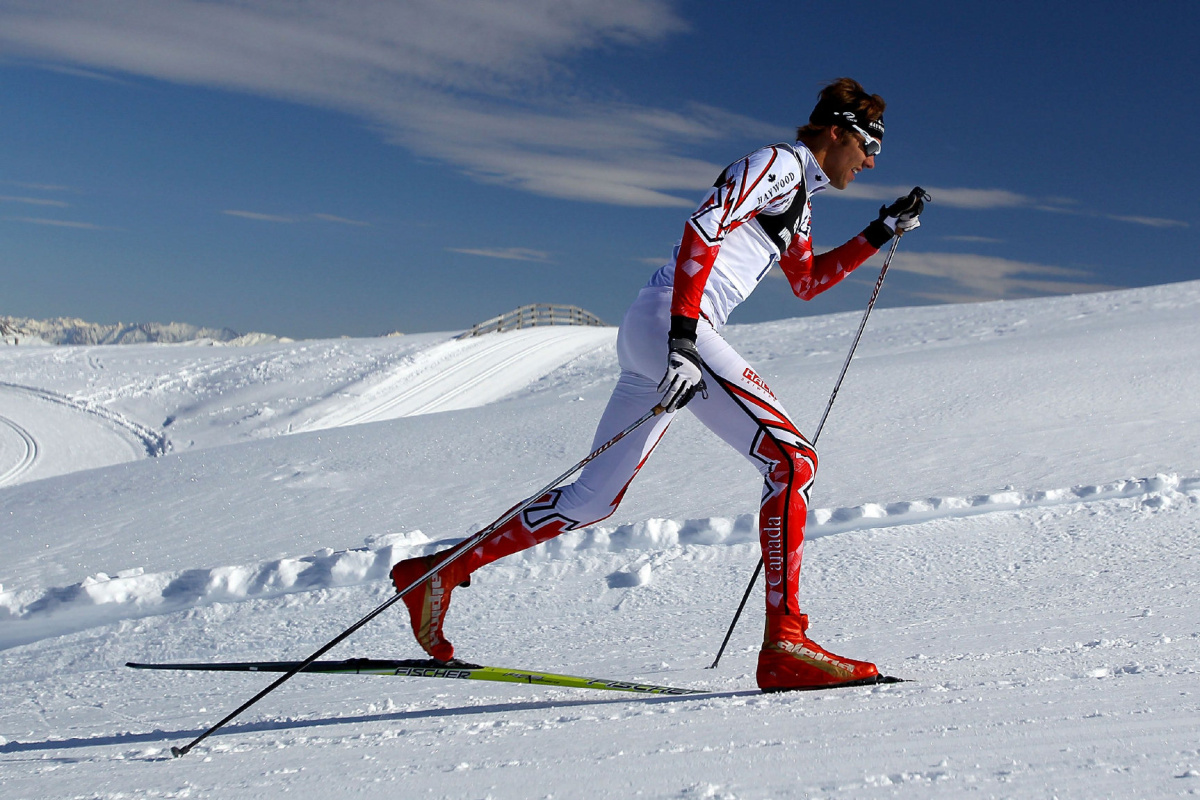 WANAKA, NEW ZEALAND - AUGUST 13:  Len Valjas of Canada competes in the Cross Country Men's 10km Mass Start during day one of the Winter Games NZ at Snow Farm on August 13, 2011 in Wanaka, New Zealand.  (Photo by Hannah Johnston/Getty Images)